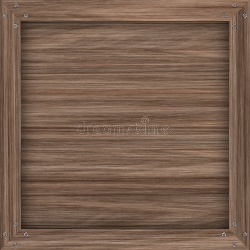 条板箱简单木 库存例证