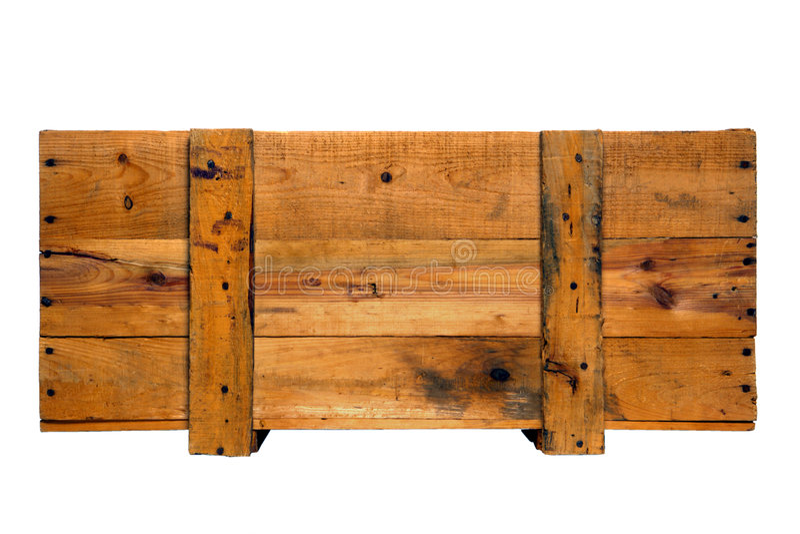 条板箱老木头 免版税库存照片