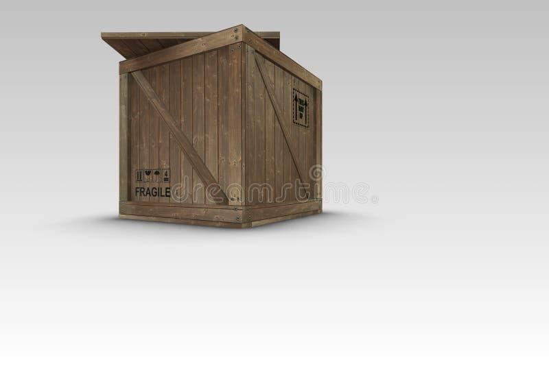 条板箱装箱 库存图片