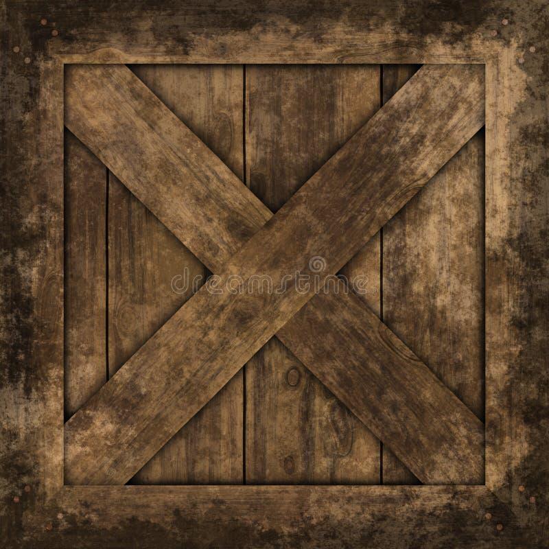 条板箱grunge纹理。 免版税库存图片