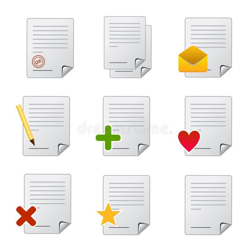 条款文件图标 向量例证