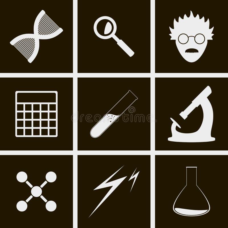 条款概念文件标题图标例证科学向量网站 库存例证