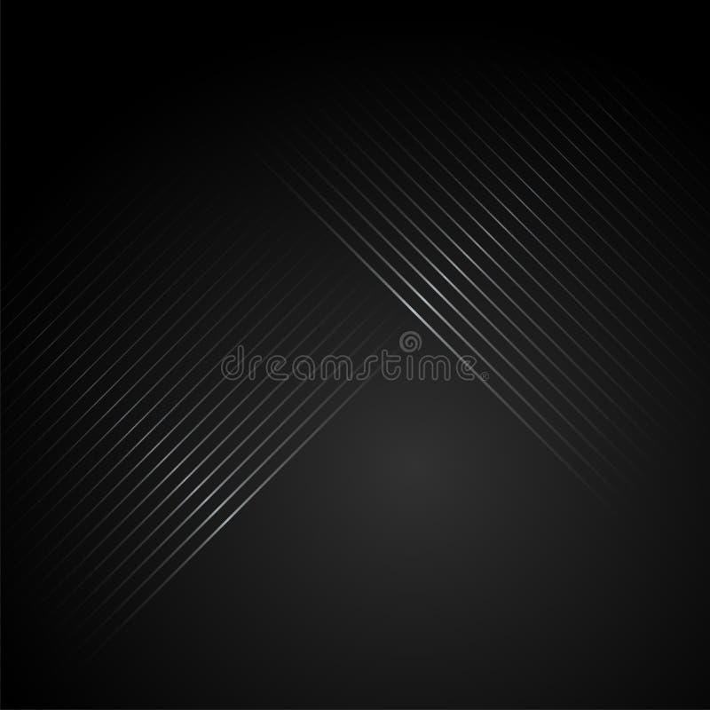 条纹图形黑色背景 库存例证