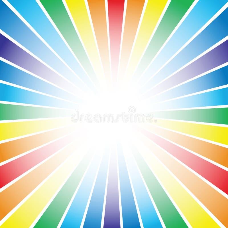 条纹彩虹背景 库存例证