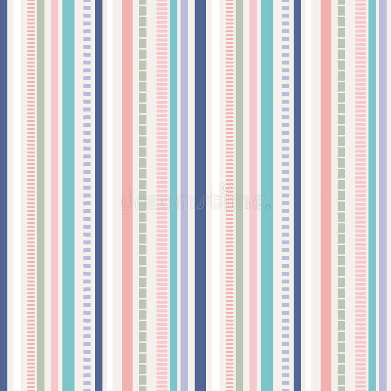 条纹无缝的样式;淡色样式 向量例证