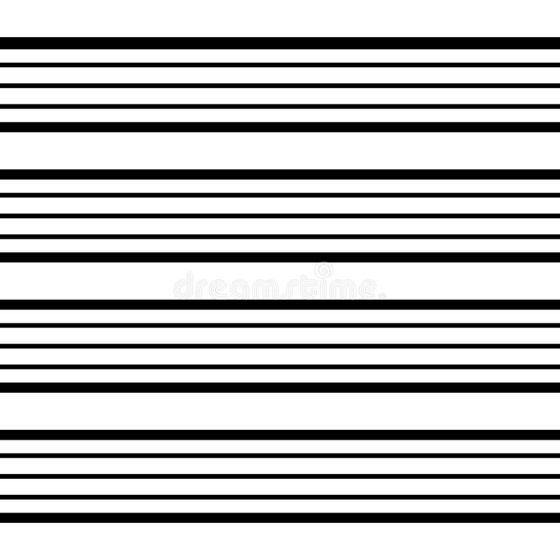 条纹的黑白无缝的样式不同的宽度- 4 库存照片