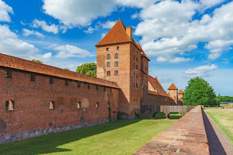 条顿人命令的城堡在马尔堡,波兰 免版税库存图片