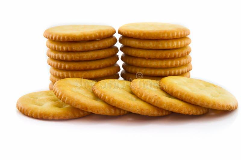 来回的薄脆饼干 库存照片