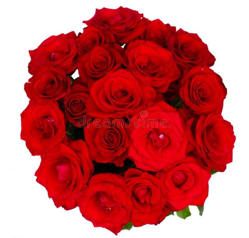 来回花束红色的玫瑰 库存图片
