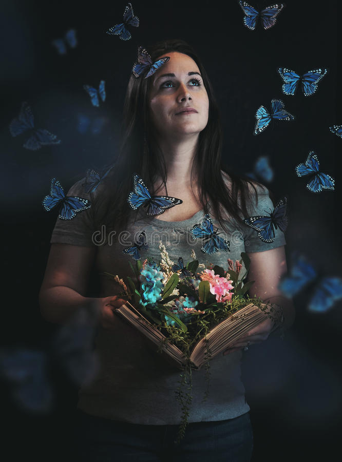 来自书的蝴蝶 库存图片