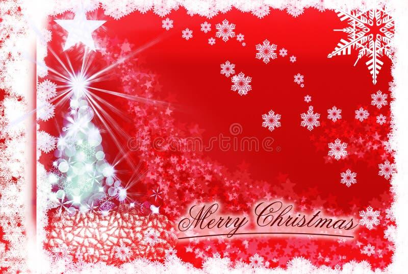 来自天堂的圣诞树和星道路 向量例证