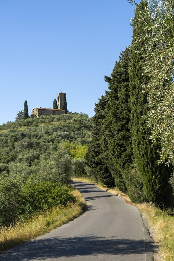 来自托斯卡纳Buggiano Castello的乡村景观 免版税图库摄影