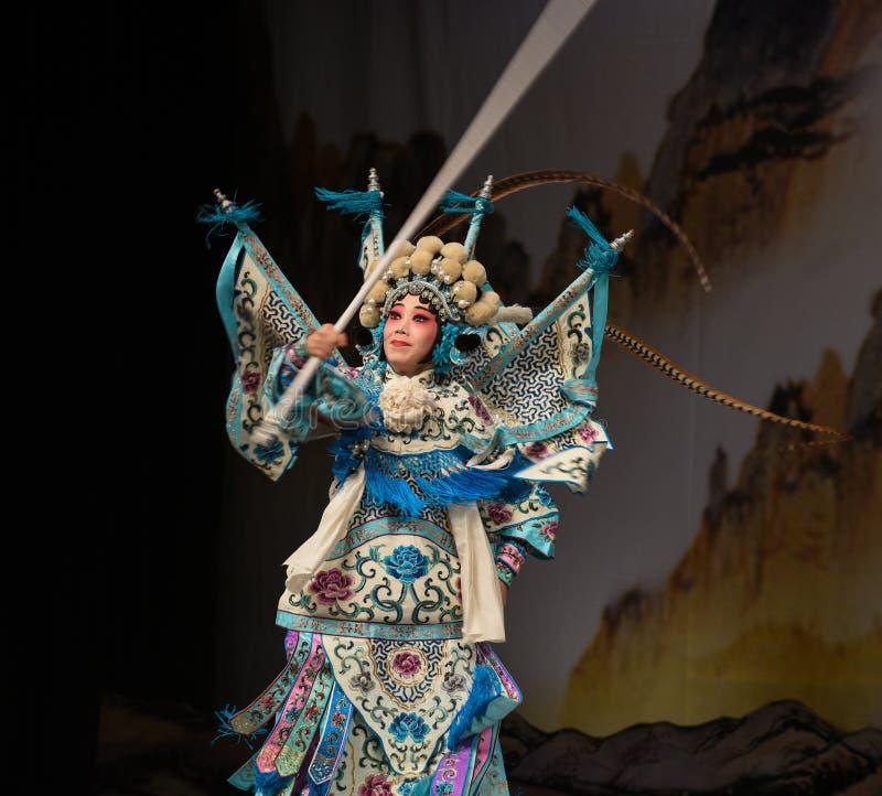 """杨Family†的枪法女性将军北京Opera""""妇女将军 库存照片"""