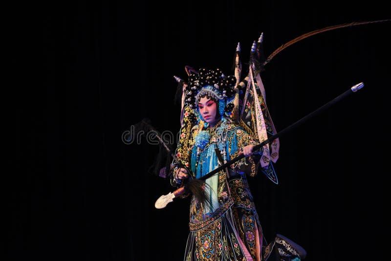 """杨Qiniang-北京Opera""""杨Family†的妇女将军 免版税图库摄影"""