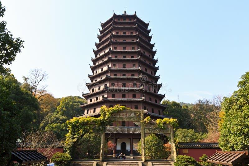 杭州六个和谐塔公园 图库摄影