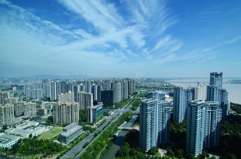 杭州天空 免版税库存图片