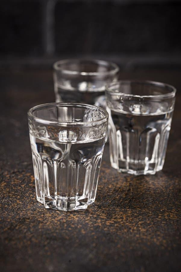 杯俄国饮料伏特加酒 库存图片