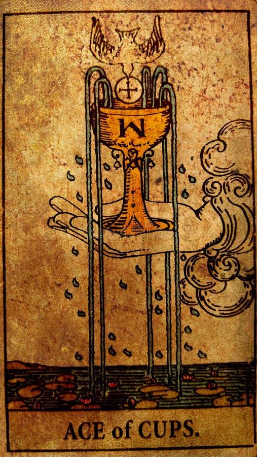 杯占卜用的纸牌新的爱喜悦幸福愉快的新闻自得起点葡萄酒一点爱构想大有之心分享 皇族释放例证
