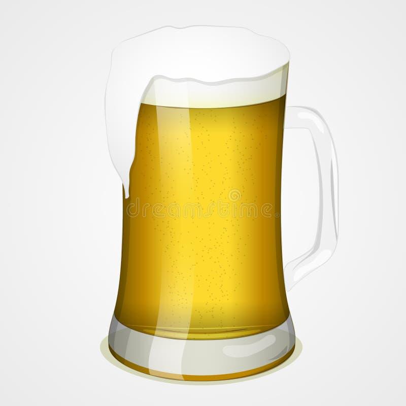 杯啤酒为国际啤酒天 标志或象您的设计的在动画片样式 也corel凹道例证向量 节假日 库存例证