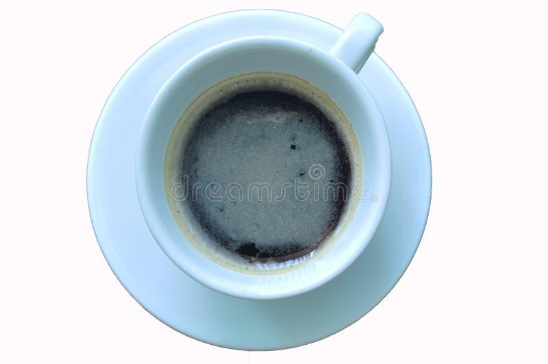 杯在白色背景的无奶咖啡 库存图片