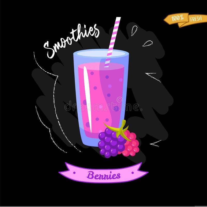 杯在黑背景的圆滑的人 黑鹂 夏天设计-有益于菜单设计 皇族释放例证