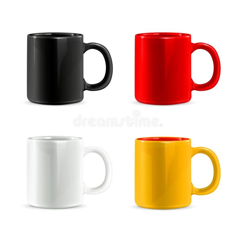 杯子传染媒介象 库存例证