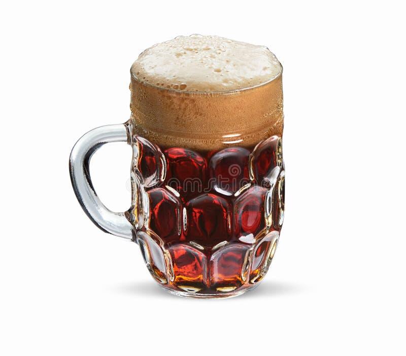 杯子啤酒隔绝与裁减路线 免版税库存照片