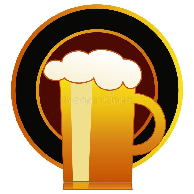 杯子啤酒 库存例证