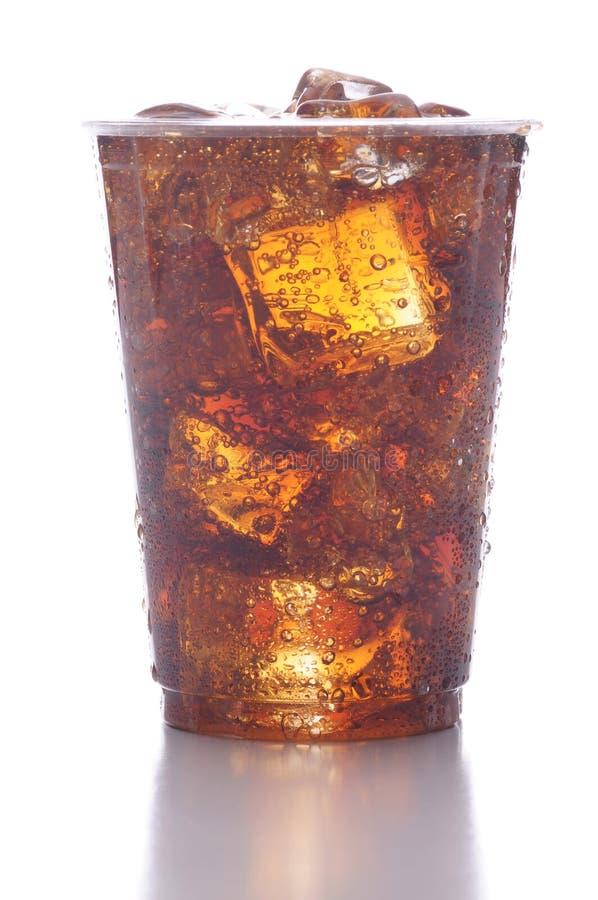 杯子塑料碳酸钠 免版税库存图片
