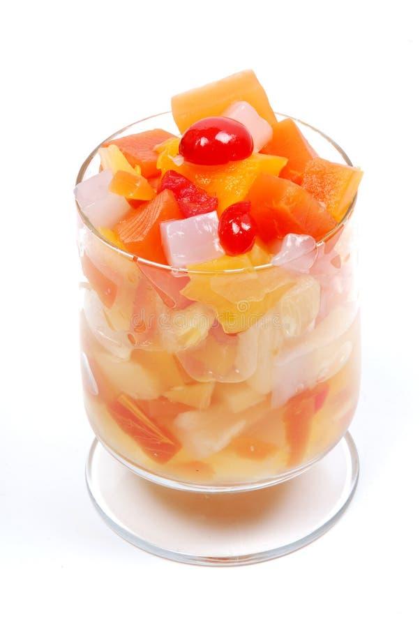 杯子果子 免版税库存图片