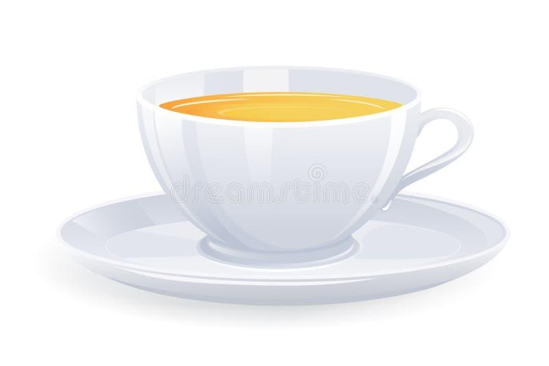 杯子查出的茶 库存例证