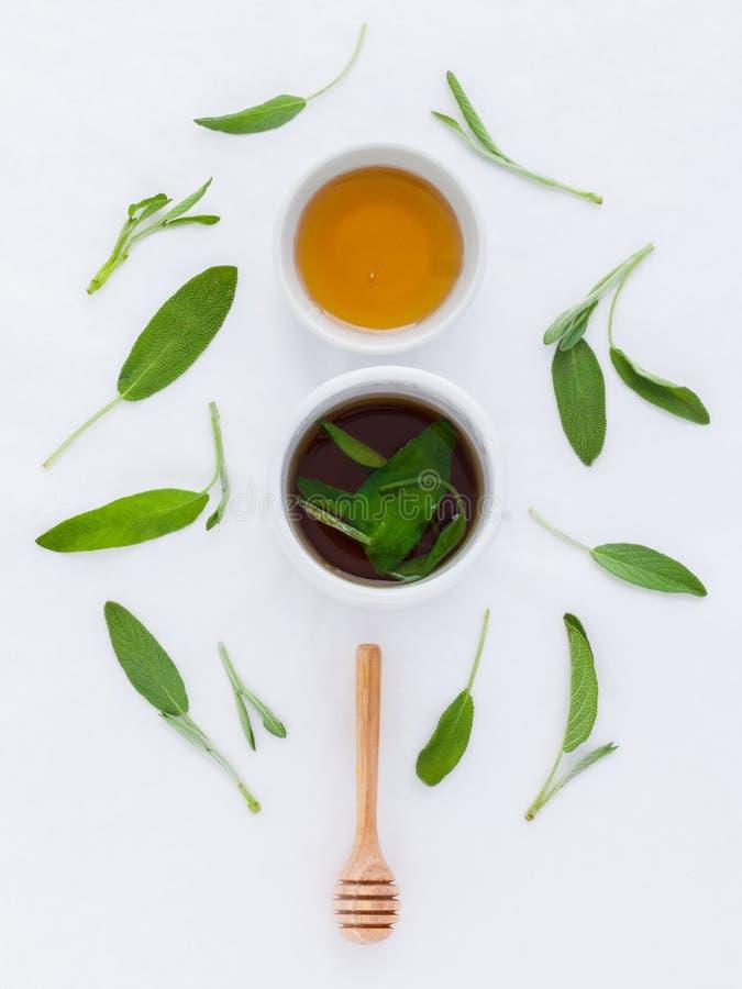 杯子温暖的贤哲健康饮用的茶,当病症和 免版税库存图片