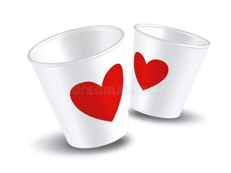 杯子爱纸张 皇族释放例证