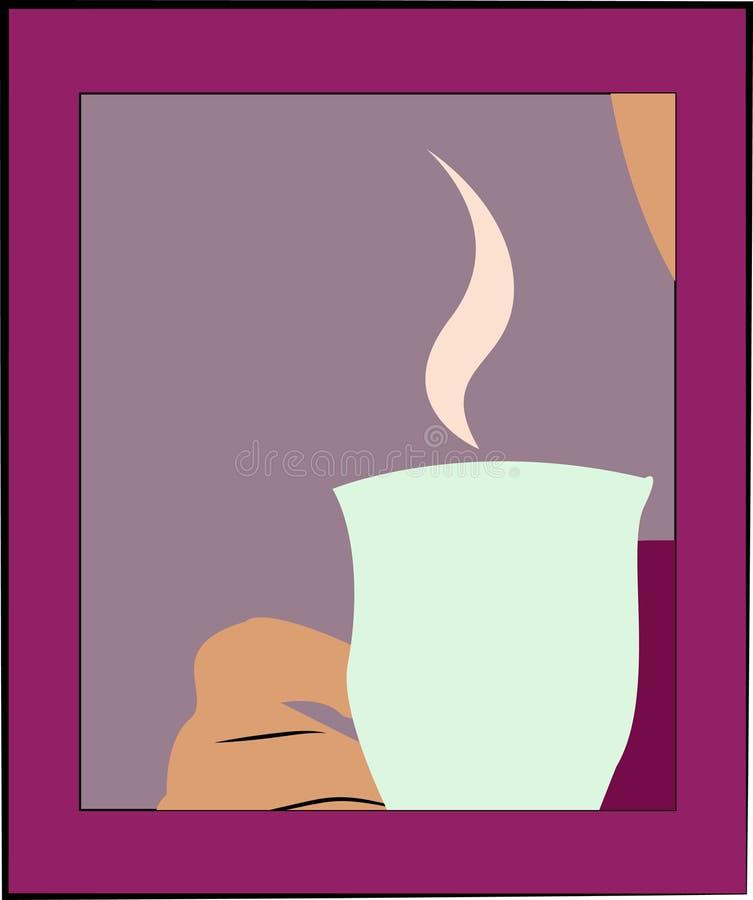 杯子用茶或咖啡 皇族释放例证