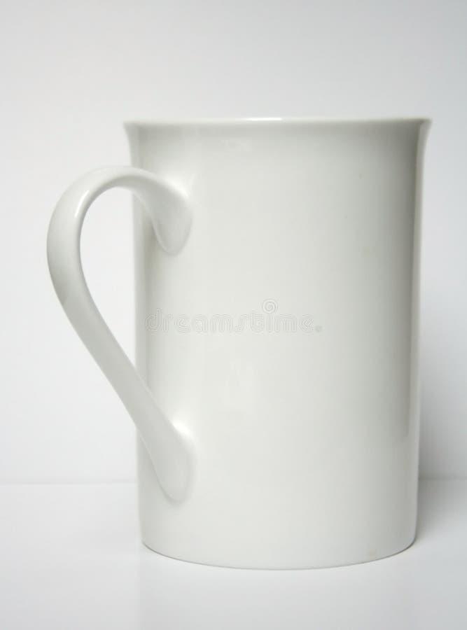 杯子白色 免版税库存照片