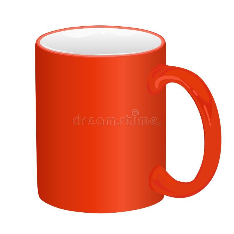 杯子红色 向量例证