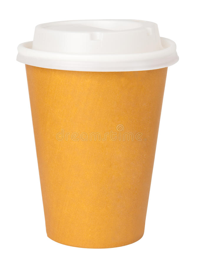 杯子纸张 免版税库存图片