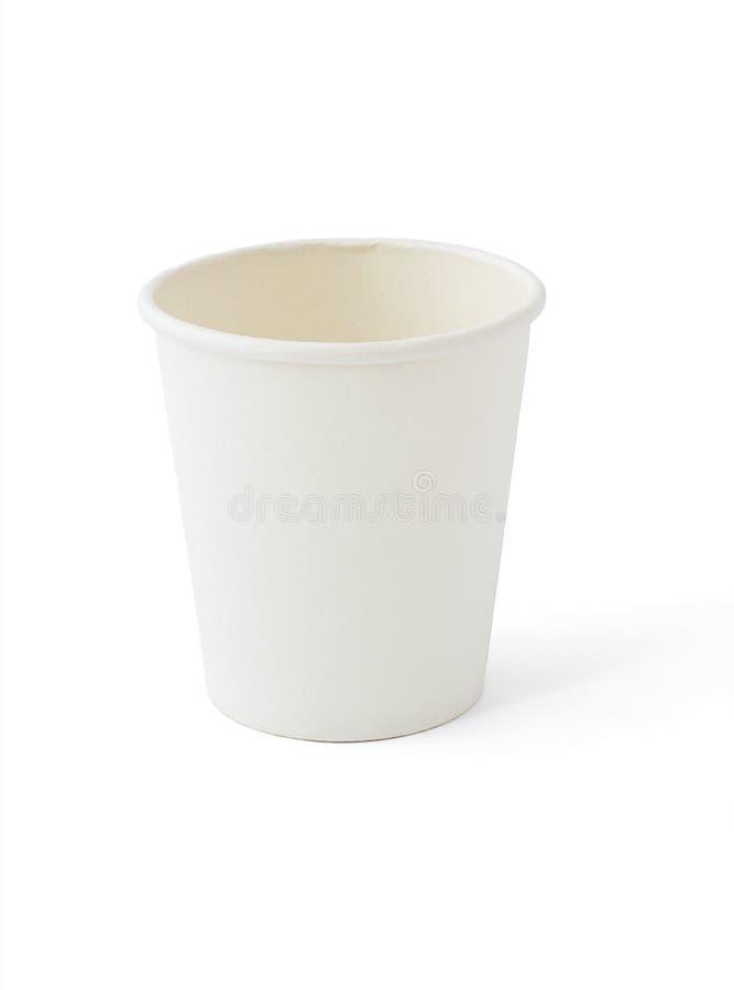 杯子纸白色 图库摄影