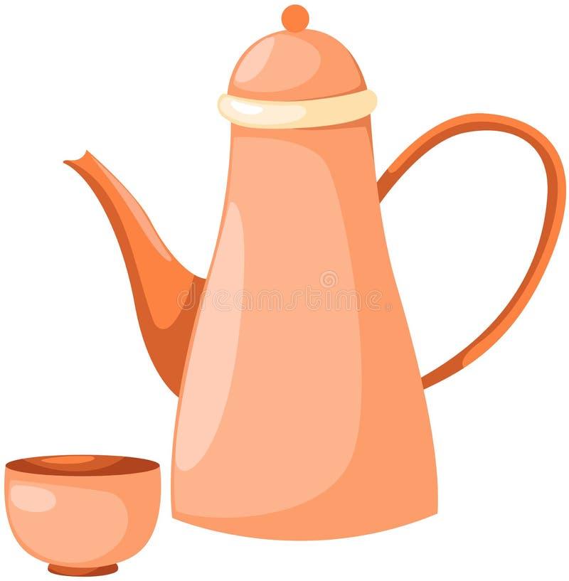 杯子罐茶 库存例证