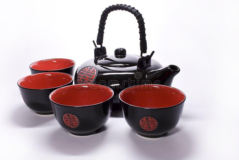 杯子茶壶 免版税图库摄影
