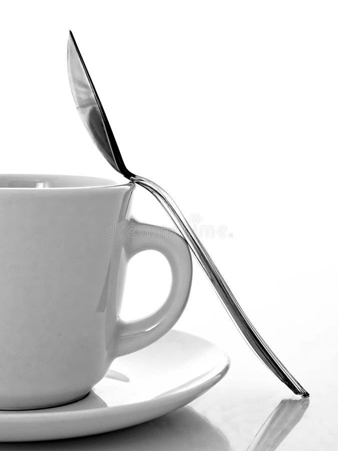 杯子茶碟匙子 库存图片