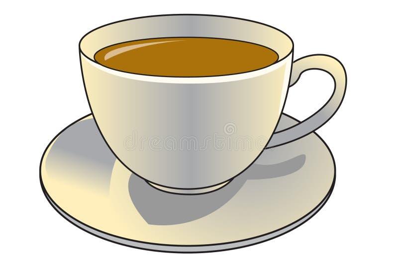 杯子茶 向量例证