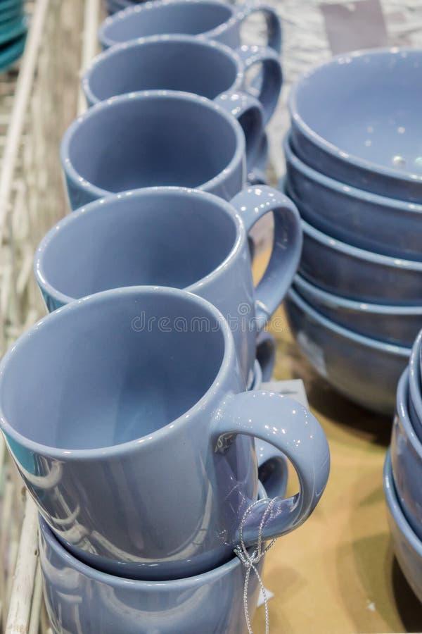 杯子蓝色 库存照片