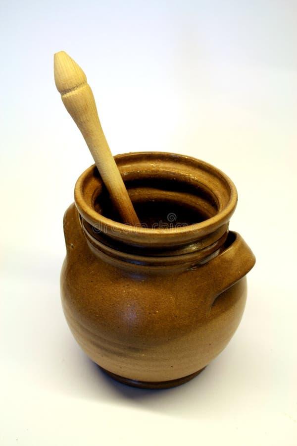 杯子蜂蜜 库存图片