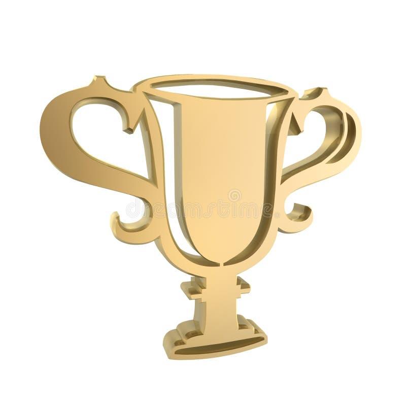 杯子赢利地区 向量例证