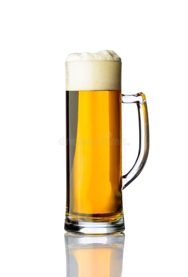 杯子金黄啤酒 库存图片