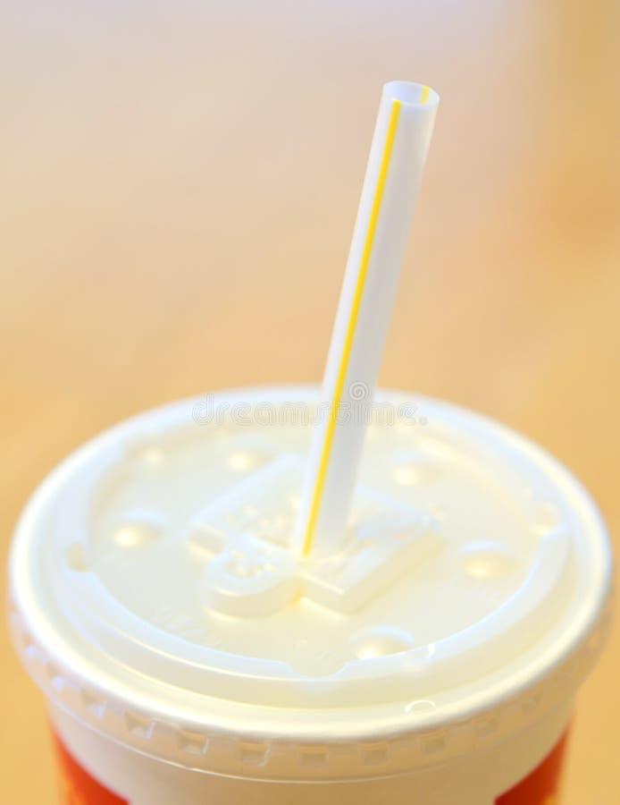 杯子饮料软的秸杆 免版税图库摄影