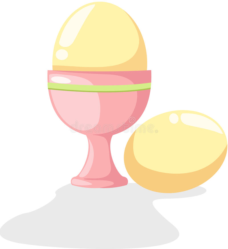 杯子鸡蛋 向量例证