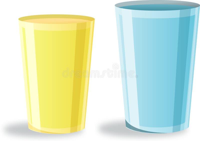 杯子 向量例证