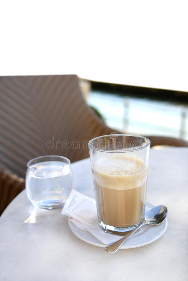 杯子latte 图库摄影